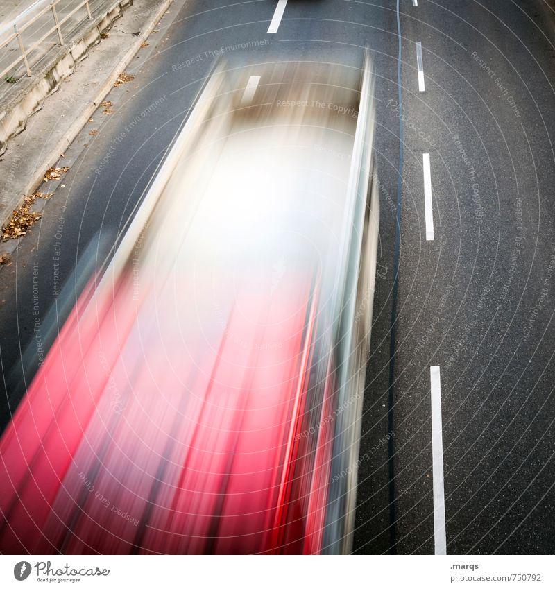 ÖPNV Stadt weiß rot Straße Wege & Pfade Stil grau Arbeit & Erwerbstätigkeit Business elegant Design modern Verkehr Geschwindigkeit Zukunft