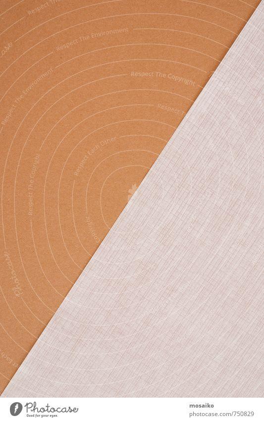 Diagonale weiß Farbstoff Stil Linie hell braun Arbeit & Erwerbstätigkeit Business Lifestyle Büro Design Kommunizieren Papier Idee Beruf Material
