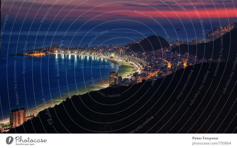 Rio de Janeiro 2 Ferne Städtereise Strand Meer Sand Wasser Himmel Bucht Stadt Blick schön Stimmung ruhig Copacabana Brasilien Farbfoto Außenaufnahme