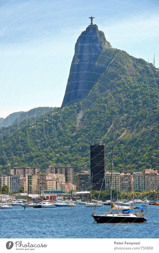 Rio de Janeiro 1 Wasser See Rodrigo de Freitas Brasilien Südamerika Stadt Hafenstadt Menschenleer Sehenswürdigkeit Wahrzeichen Denkmal Blick Natur