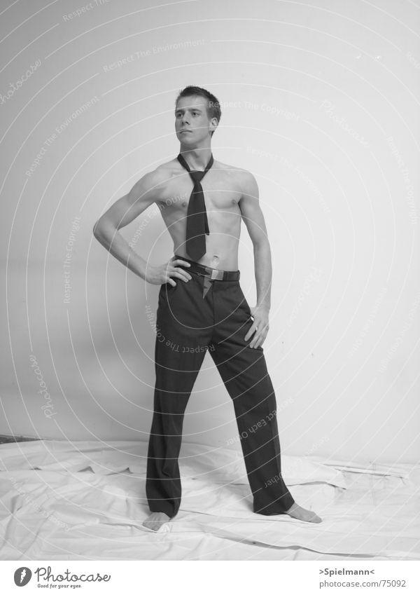 Bundeswehr Mann weiß schwarz grau Kraft Wohnzimmer Krawatte