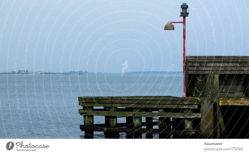 Nice view Wasser Meer Einsamkeit Lampe Hafen Dänemark Fjord stur Limfjord Brügge Lemvig