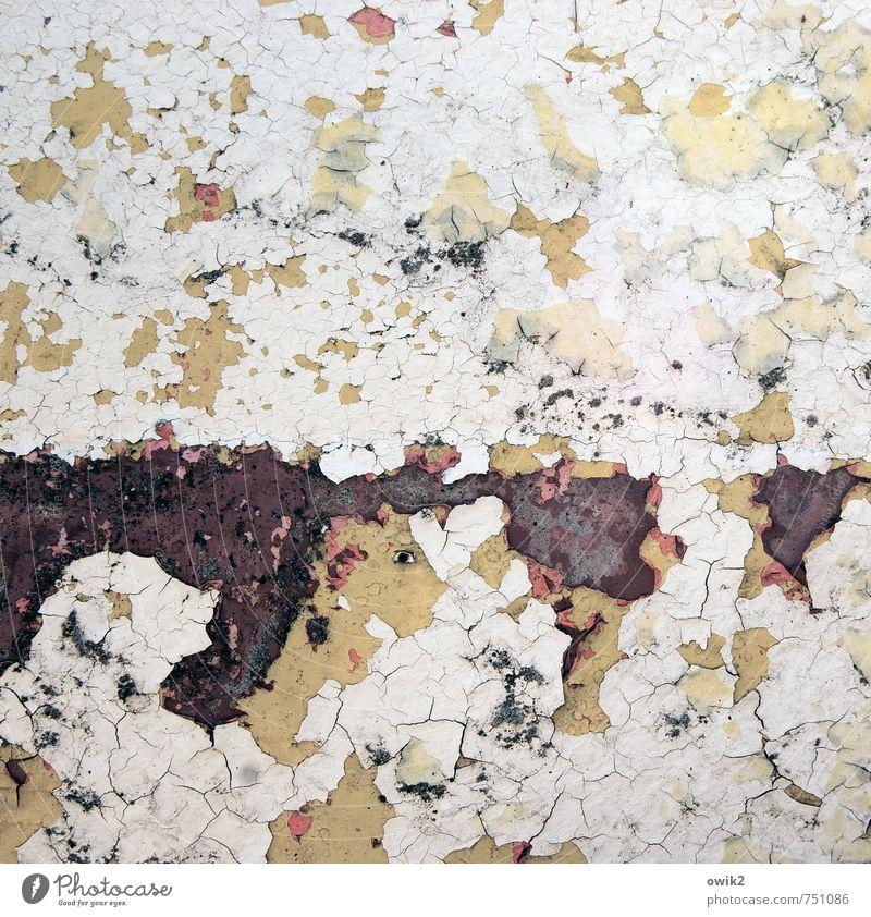 Eine Frage der Zeit alt Farbe Metall trist Vergänglichkeit Wandel & Veränderung Spuren Teile u. Stücke Verfall Rost Riss trashig bizarr Zerstörung abblättern