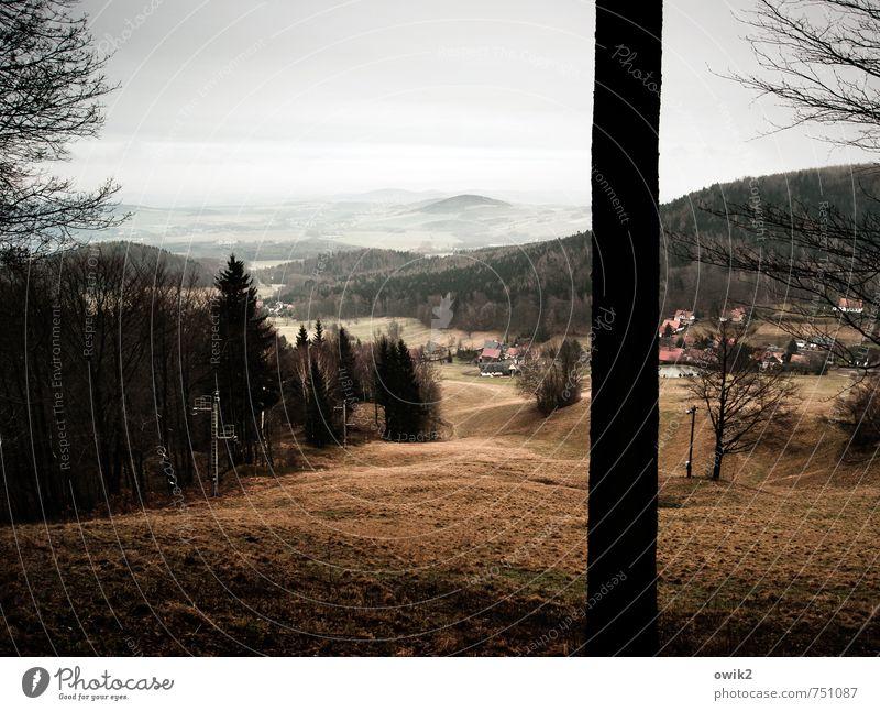 Lausitzer Bergland Himmel Natur Ferien & Urlaub & Reisen Pflanze Baum Landschaft Wolken Haus Ferne Wald Umwelt Berge u. Gebirge Gras Holz natürlich Horizont