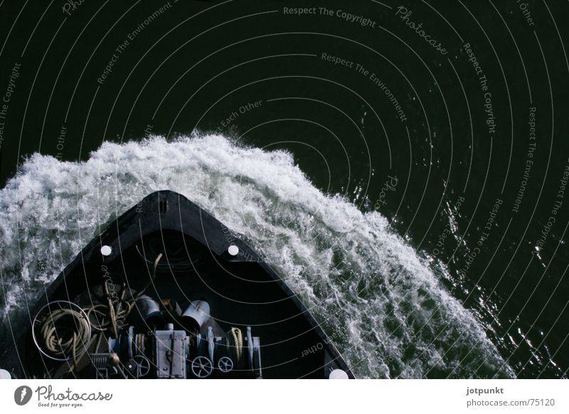 Knotenpower Wasser weiß grün Wasserfahrzeug Kraft Wellen Energiewirtschaft Fluss Rhein Anker
