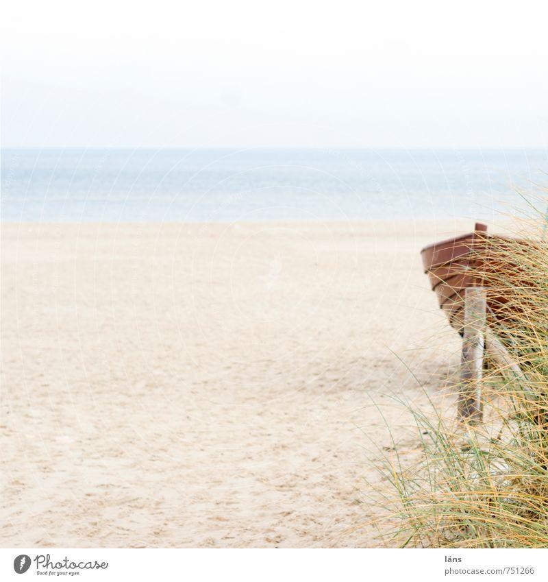 dasein Himmel Meer ruhig Strand Sand Wasserfahrzeug frei Ostsee Gelassenheit Fernweh