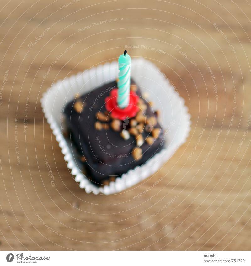 ausgepustet...Wunsch frei Lebensmittel Süßwaren Schokolade Ernährung Essen Freizeit & Hobby braun Gefühle Stimmung Freude Glück Kerze einjährig Jahr blasen
