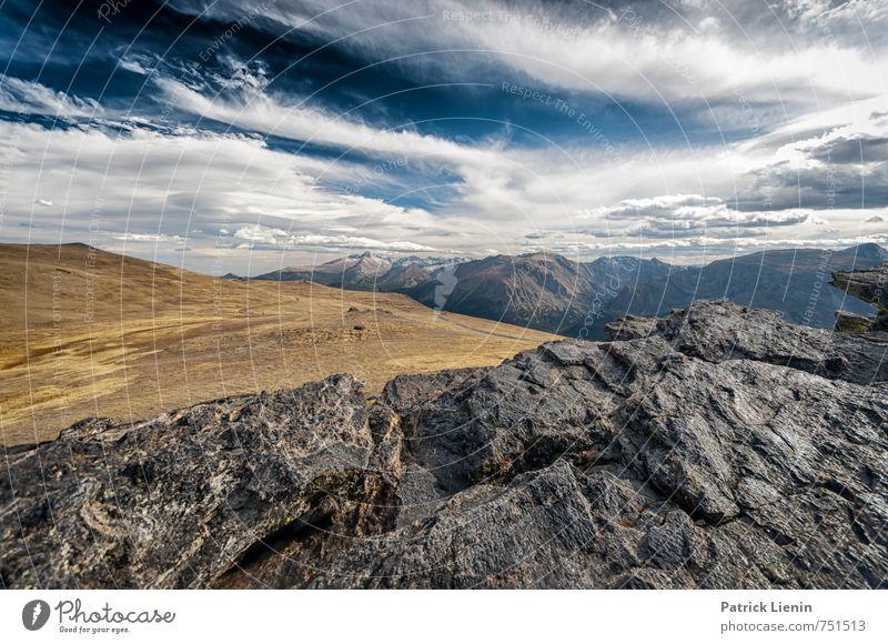 Wyoming View Himmel Natur Ferien & Urlaub & Reisen Pflanze Landschaft Wolken Ferne Umwelt Berge u. Gebirge Gras Freiheit Felsen Wetter Wind hoch Ausflug