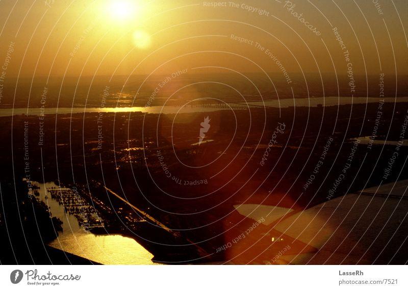 Dämmerung Aussicht Sonnenuntergang Fototechnik Abenddämmerung Ferne