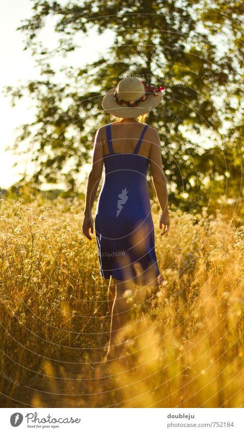 Sommertag Ausflug Sommerurlaub Sonne Sonnenbad feminin Junge Frau Jugendliche heiß Wärme Glück Farbfoto Außenaufnahme Textfreiraum unten Sonnenlicht Gegenlicht
