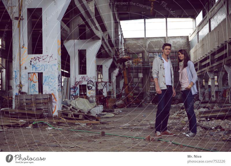 Bella & Edward Lifestyle maskulin feminin Junge Frau Jugendliche Junger Mann Geschwister Freundschaft Paar 2 Mensch 18-30 Jahre Erwachsene Industrieanlage