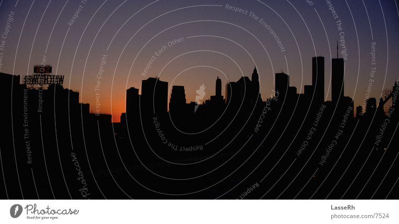 NewYork Skyline Skyline New York City Manhattan Brooklyn Abendsonne Nordamerika