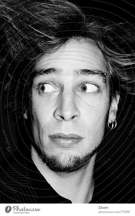 uncertainly Auge Haare & Frisuren Stil stehen Gesichtsausdruck unsicher Porträt