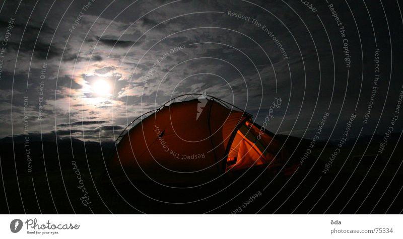 indian moonlight Zelt Vollmond Nacht Stimmung Wolken dunkel schlafen Camping Indien Ladakh Lampe luminenz Außenaufnahme