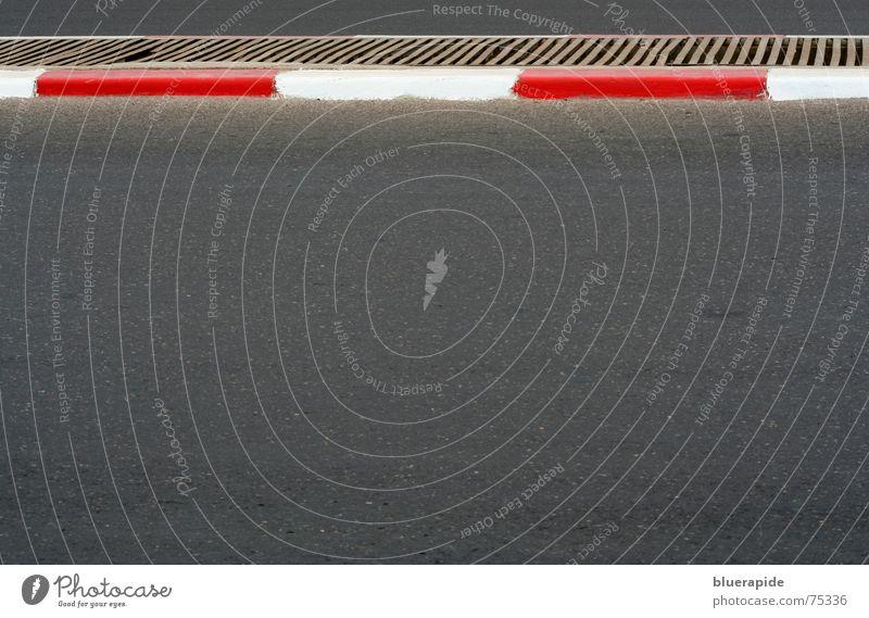 street and stripes weiß rot schwarz dunkel Linie Straßenverkehr Beton Streifen Amerika Trennung fremd schließen gestreift Teer Gitter Marokko