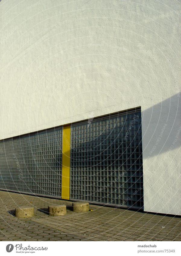 IT'S LOVE Stadt Asphalt grau unten Fußgänger Verkehr trist Muster Hintergrundbild Strukturen & Formen Quadrat graphisch weiß Haus Hochhaus Gebäude Material