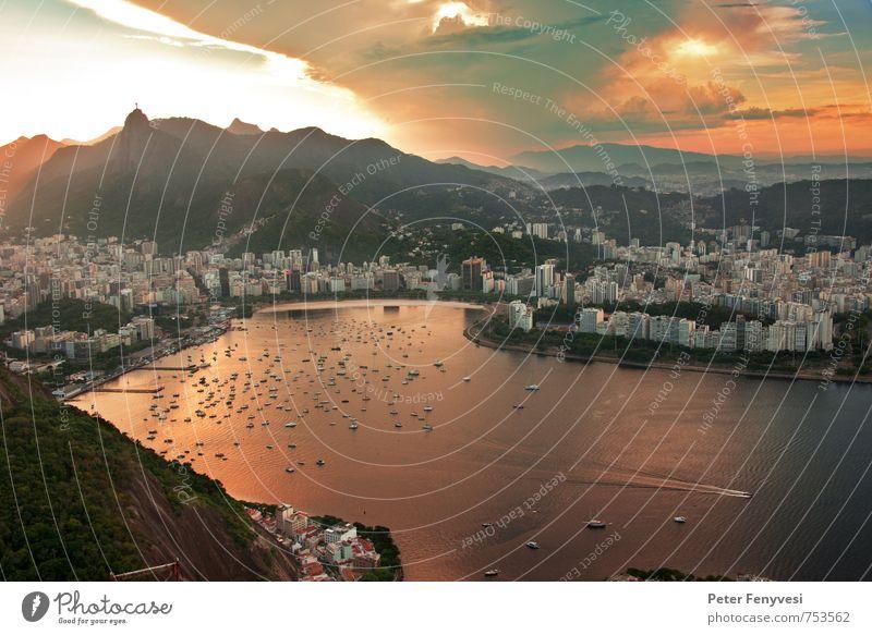 Rio de Janeiro 19 Landschaft Wasser Wolken Sonnenaufgang Sonnenuntergang Bucht Brasilien Amerika Südamerika Stadt Menschenleer Sehenswürdigkeit Stimmung ruhig