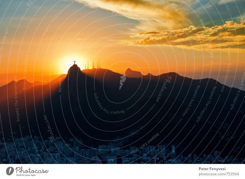 Rio de Janeiro 18 Landschaft Wolken Gipfel Brasilien Amerika Südamerika Stadt Menschenleer Sehenswürdigkeit Wahrzeichen Denkmal Stimmung Warmherzigkeit ruhig