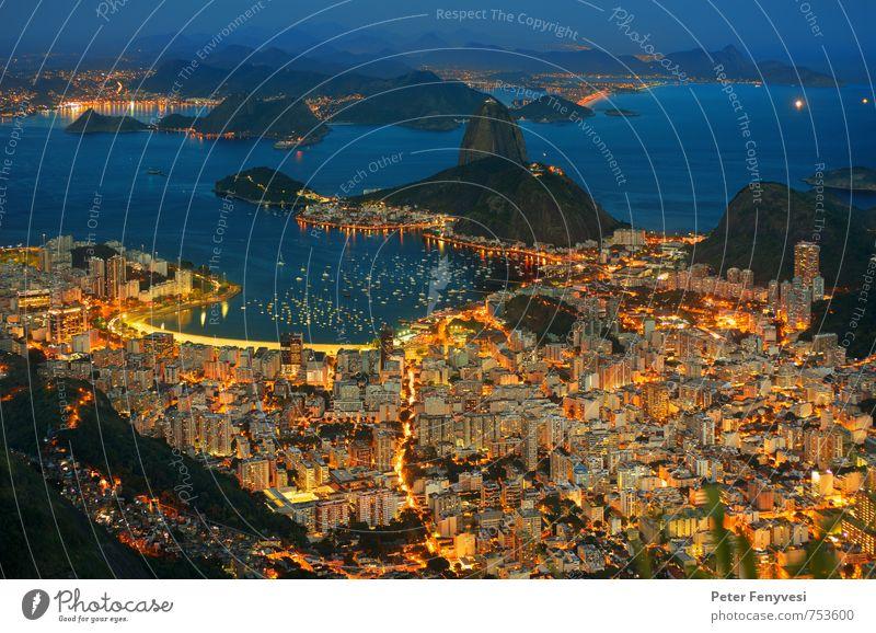 Rio de Janeiro 15 Landschaft Wasser Seeufer Bucht Brasilien Amerika Südamerika Stadt Sehenswürdigkeit Wahrzeichen schön Stimmung ruhig Pão de Açúcar