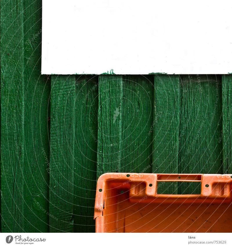 heute... kein Fisch Fischer Fischereiwirtschaft Fischerhütte Ahlbeck Haus Holz Kunststoff Schilder & Markierungen eckig grün orange weiß Kiste Holzwand