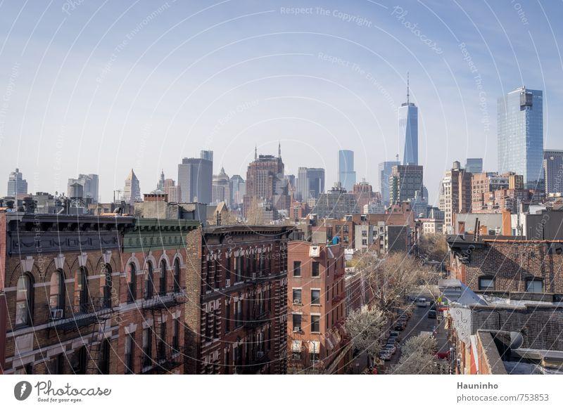 New York im siebten Stock Ferien & Urlaub & Reisen Tourismus Freiheit Sightseeing Städtereise Schönes Wetter Baum New York City USA Stadt Stadtzentrum Skyline
