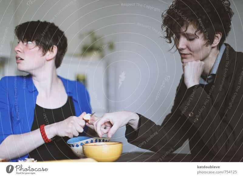 la douce tentation Liebe feminin Lifestyle Frucht genießen Fitness lecker Gemüse Partnerschaft Appetit & Hunger Verliebtheit Geschirr Fürsorge frech Vegetarische Ernährung Messer