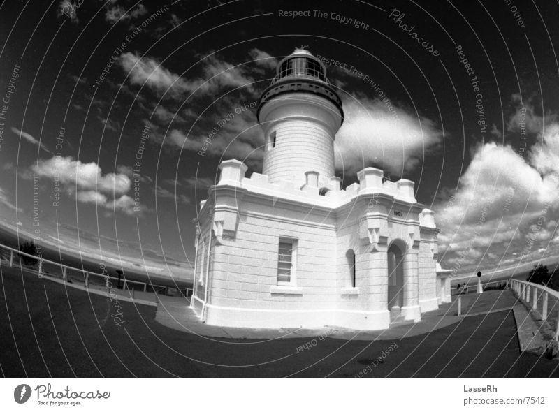 Byron Lighthouse Leuchtturm Australien Fischauge BW Schwarzweißfoto