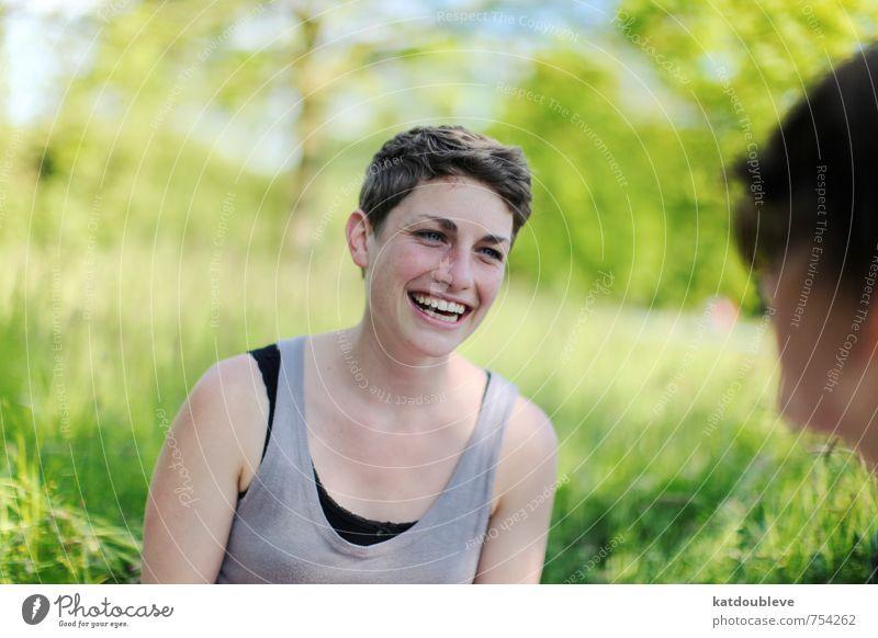 De tout coeur Natur schön Freude Leben Gefühle feminin lachen Stimmung Freundschaft Energie Lächeln Warmherzigkeit Kommunizieren Lebensfreude einzigartig