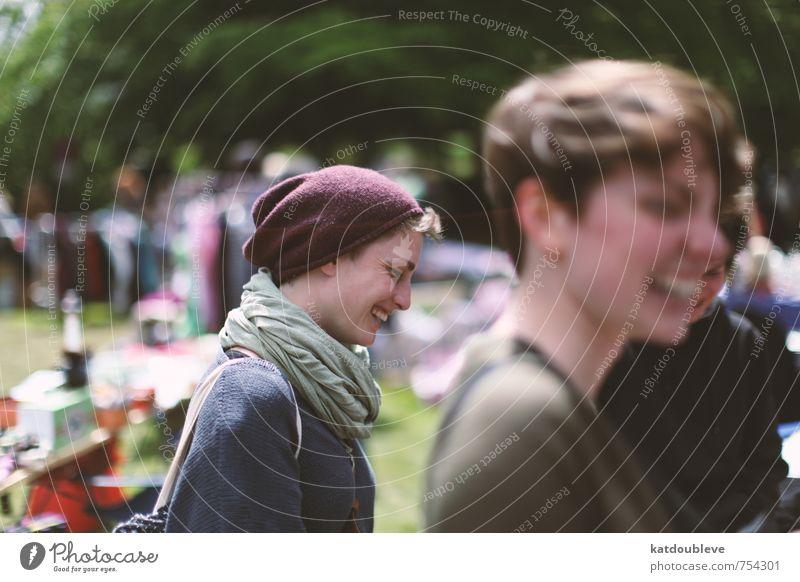 bonheur - C'est son sourire Mensch schön Sommer Freude Gefühle feminin Frühling lachen Glück außergewöhnlich Garten Stimmung Park laufen authentisch ästhetisch