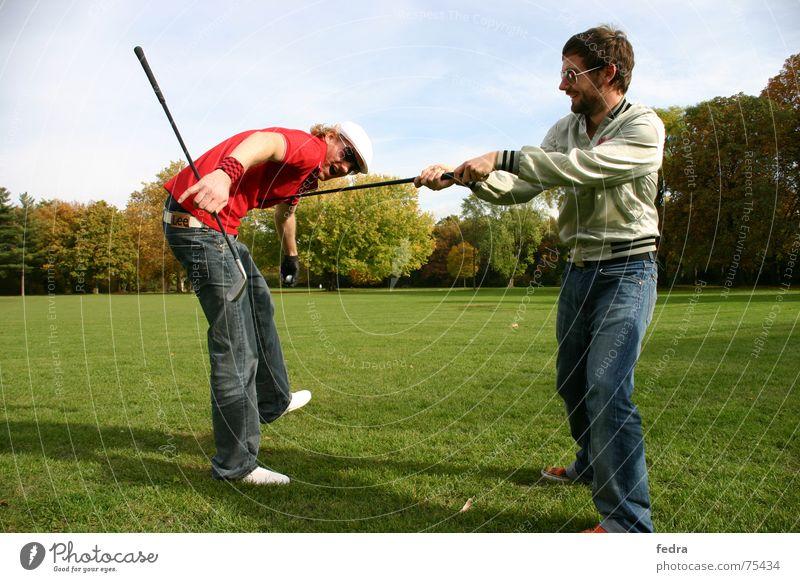 Birdie Mensch Freude Sport Wiese Golf Mütze schlagen Rüpel Knockout