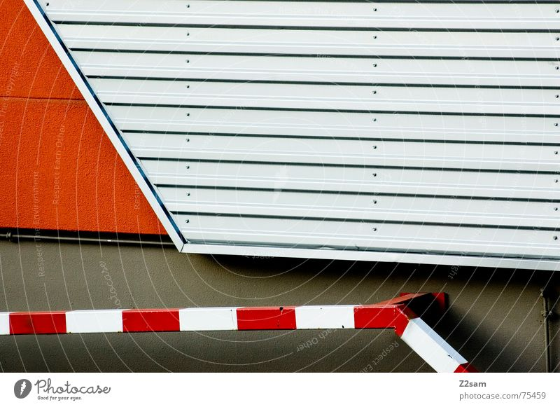 abstrakte geometrie II rot Wand Linie orange Metall Schilder & Markierungen Geometrie Pfosten Blech