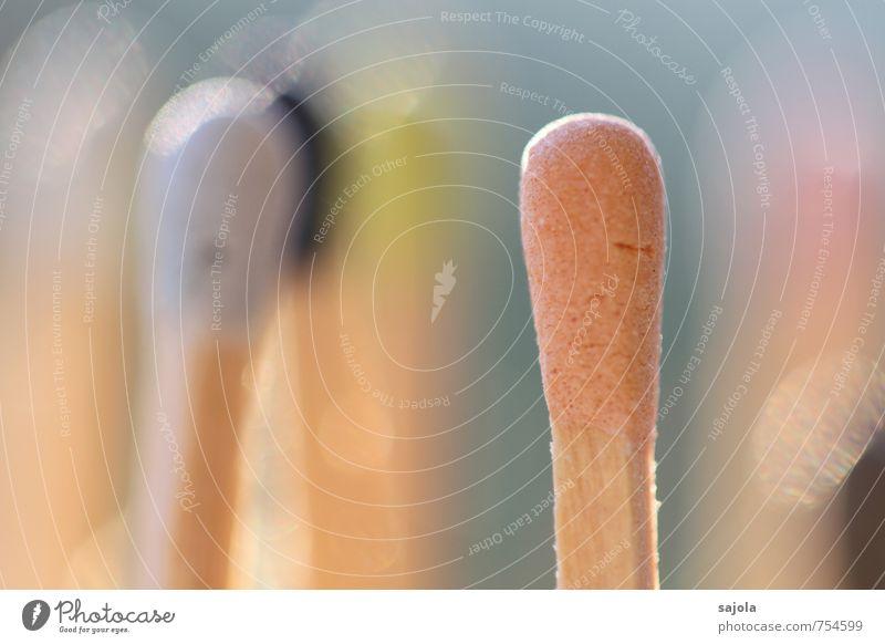 ausgebleicht Holz stehen Streichholz Streichholzkopf mehrfarbig sprechen Brennpunkt Sonnenbad Zusammensein mehrere Farbfoto Außenaufnahme Nahaufnahme