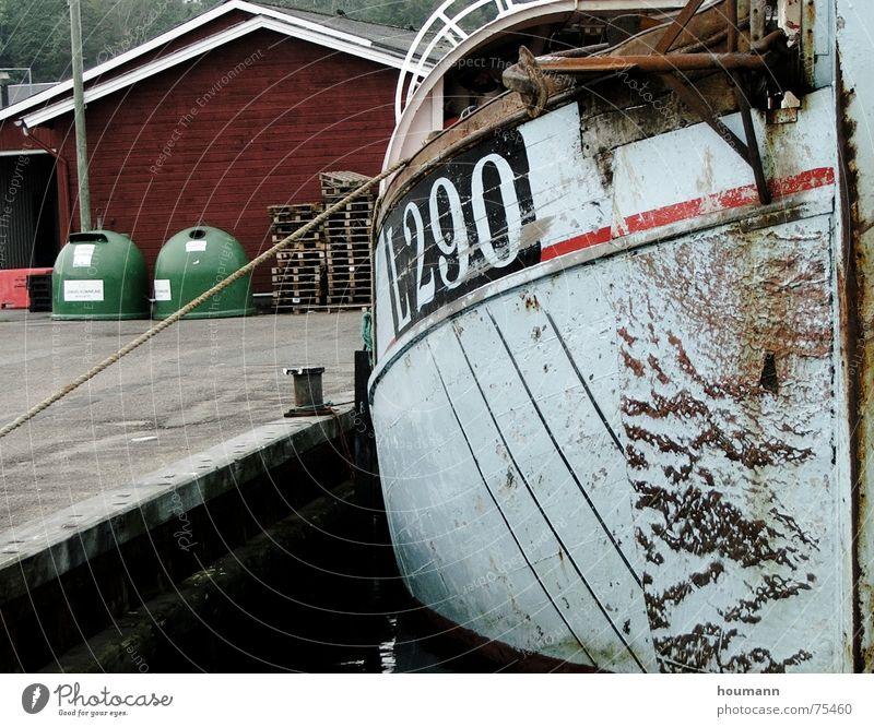 Hafenstimmung Meer Industrie Dänemark Fischerboot Lemvig