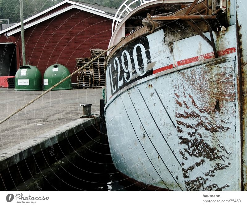 Hafenstimmung Meer Industrie Hafen Dänemark Fischerboot Lemvig