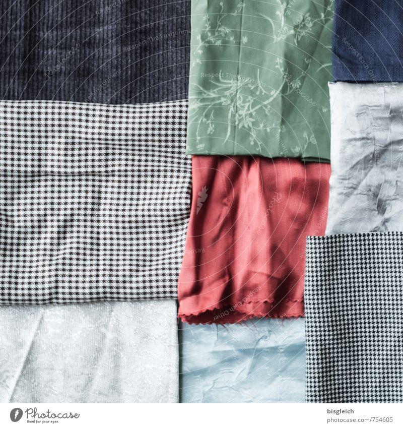 Stoffe blau grün rot schwarz grau weich Quadrat Schneider Schneidern