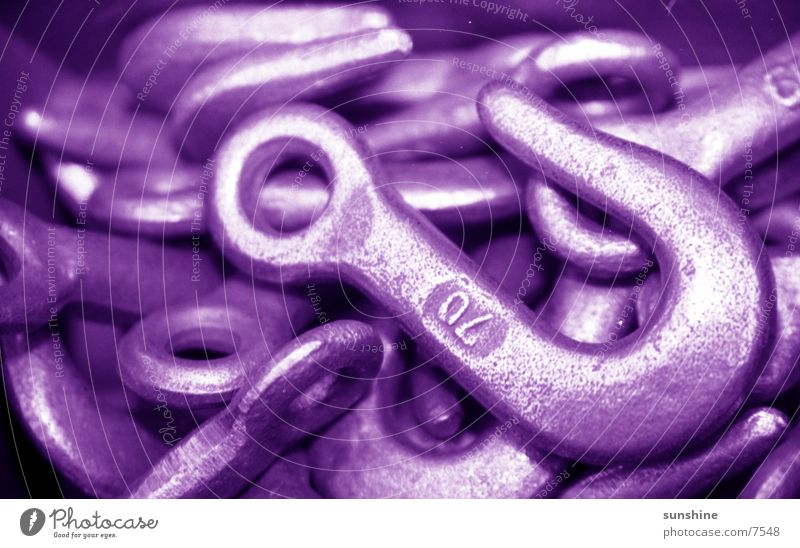 Haken Metall Industrie violett Produktion