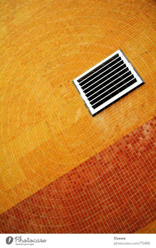 Flieser grüß mir die Sonne rot orange Fliesen u. Kacheln Gitter Fuge Keramik Belüftung Klimaanlage