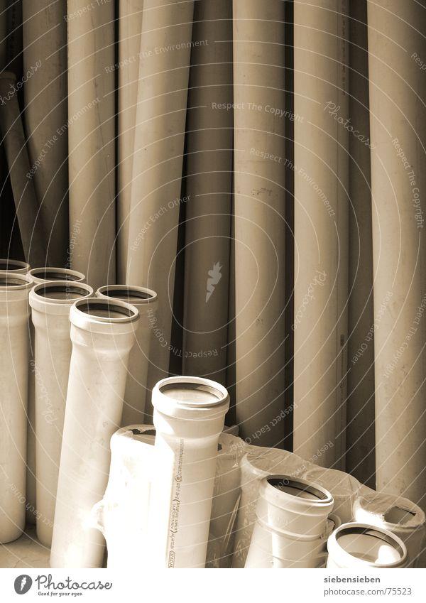 Material ruhig Industrie Baustelle Dienstleistungsgewerbe Röhren Handwerk Kunststoff bauen Renovieren Branche Anschnitt Gewerbe Bildausschnitt Sanieren