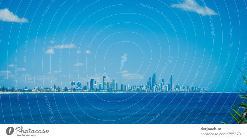 Surfers Paradise Himmel blau Stadt schön Wasser Sommer Meer Landschaft Wolken Gebäude Stil Stein Stadtleben elegant Energiewirtschaft authentisch