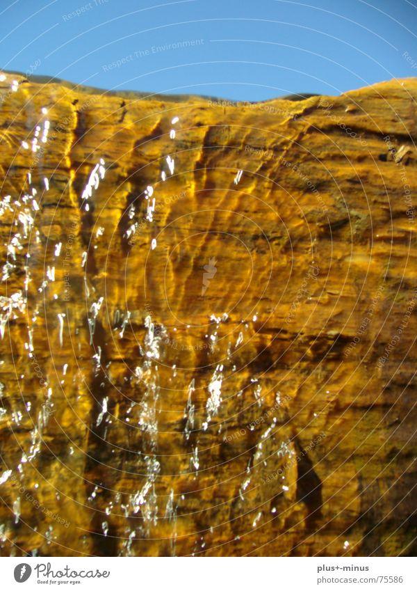 Waterfall Baum Baumstamm Erfrischung Wasser Schönes Wetter Klarheit bergwasser