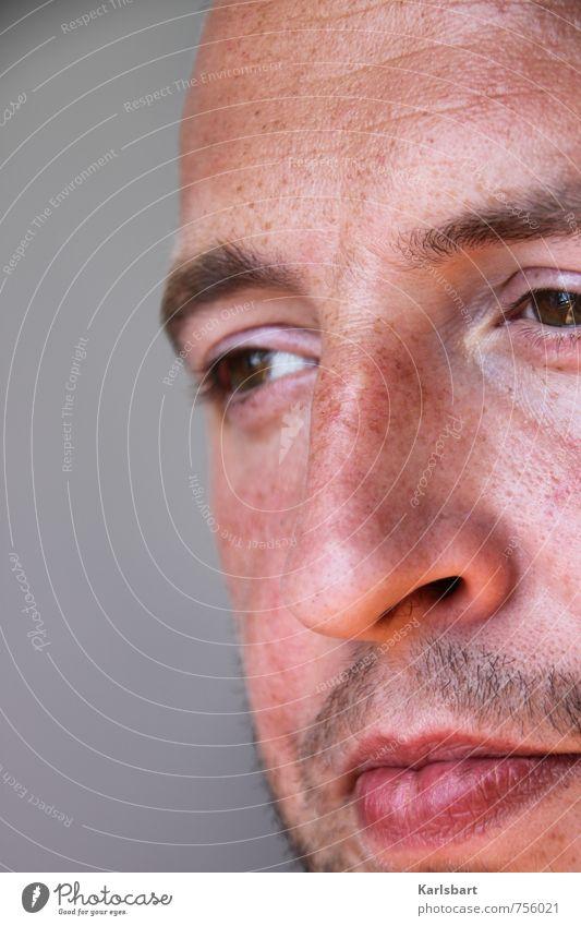 Blick ins Vertraute Mensch Jugendliche Mann Erholung 18-30 Jahre Gesicht Erwachsene Liebe Gesundheit Glück maskulin Zufriedenheit Freizeit & Hobby Perspektive