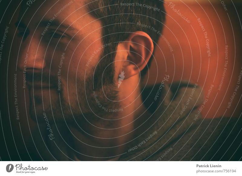 Gedankensprung Mensch Mann Erholung ruhig Freude Erwachsene Gesicht Gesundheit Kopf Stimmung maskulin Lifestyle elegant Zufriedenheit einzigartig Neugier