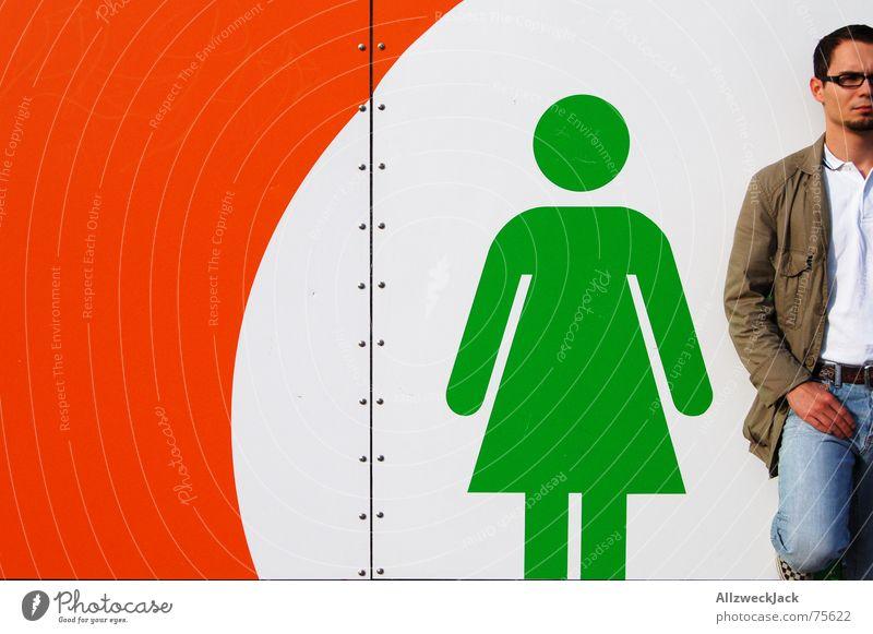 Mein Mädchen und ich (XL Version) Frau Mann Paar warten paarweise stehen Hinweisschild Toilette Schilder & Markierungen Strichmännchen Platzhalter Stuhlgang