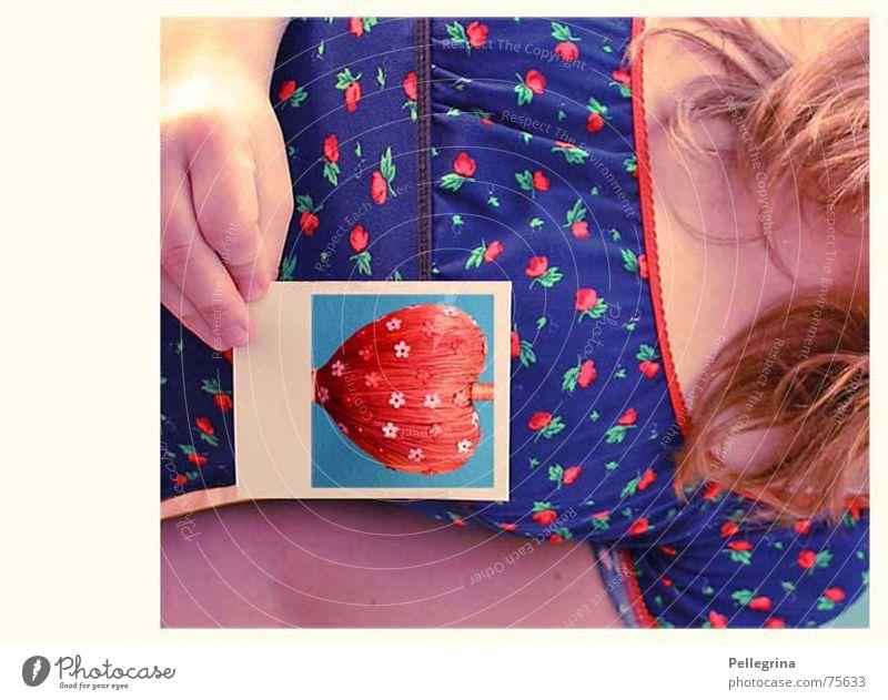 Herzschmerz Blume Selbstportrait Gefühle Denken Frau Liebeskummer Polaroid
