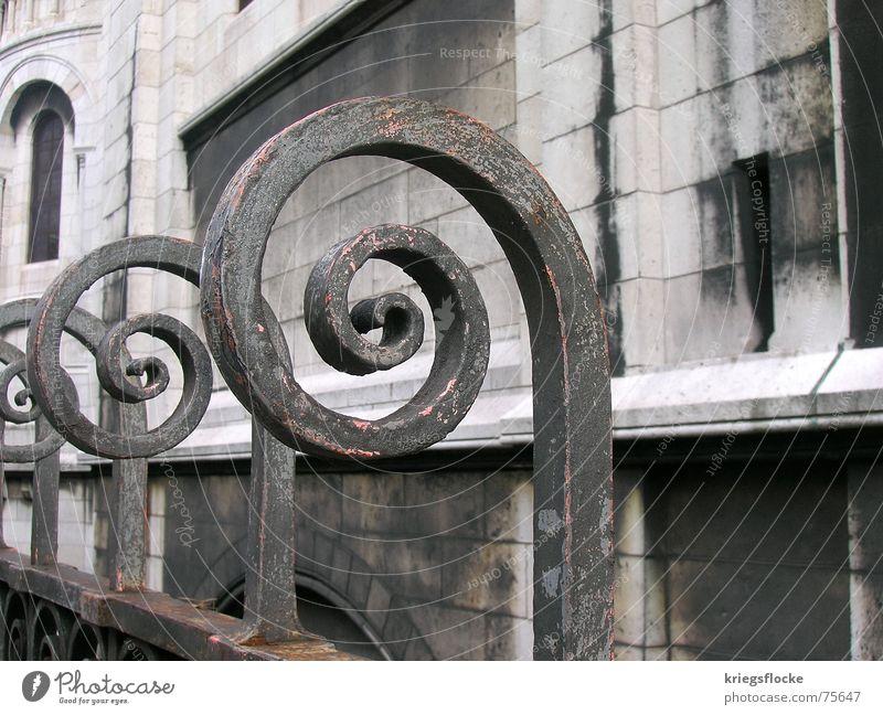 *kringel* Religion & Glaube Kreis Paris Frankreich Rost Zaun Eisen Sacré-Coeur