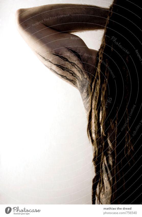 MATHIAS THE DREAD - PAST vs. FUTURE Mensch Jugendliche Mann ruhig 18-30 Jahre Erwachsene Haare & Frisuren außergewöhnlich Kopf maskulin Körper Haut Arme Tattoo