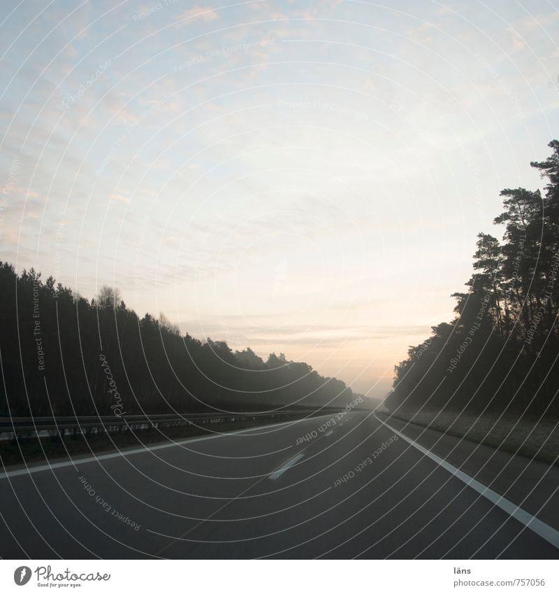 A24 fahren Autobahn Straße Himmel Hoffnung kommen