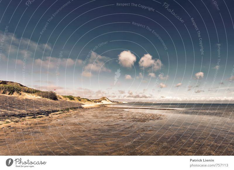 Insellandschaft Himmel Natur Ferien & Urlaub & Reisen Sommer Wasser Sonne Meer Landschaft Wolken Ferne Strand Umwelt Küste Freiheit Stimmung Zufriedenheit