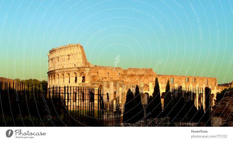 ewig! Rom Italien Bauwerk Ruine Denkmal Tourist Sehenswürdigkeit Kunstwerk schön colluseum alt Gladiator forum romanica Himmel Kontrast