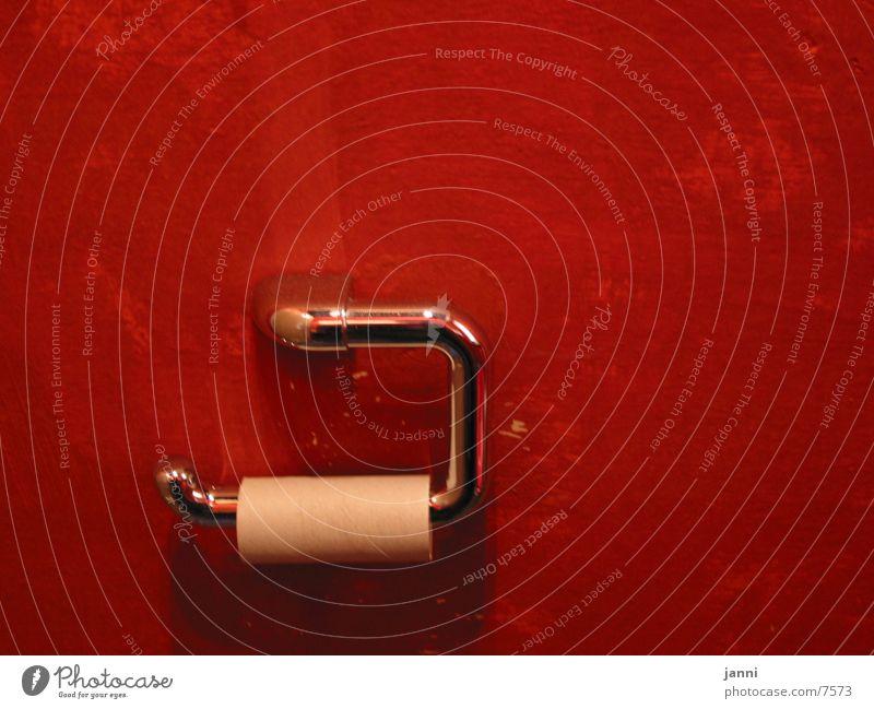 rot_klo_rolle Rolle leer Fototechnik Toilette rotphase